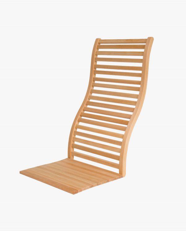 Luxe ergonomische rugleuning voor sauna/banya (bewerking: geolied)