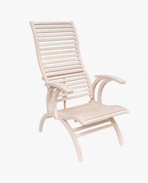 Ergonomisch ontworpen zetel voor de spa (witte olie voor het hout)